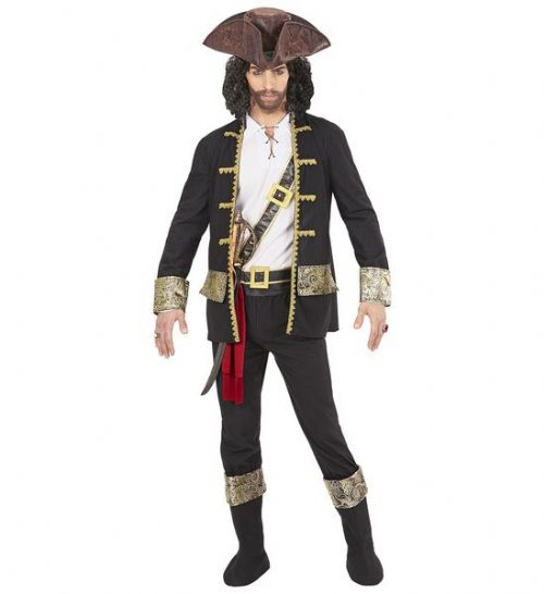 Adults Pirate Captain Black Costume Fancy Dress